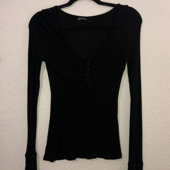 Cotton On Tops - Cotton On Ribbed Long Sleeve